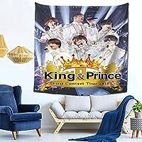 King&Prince (3) インテリア 壁掛け おしゃれ 室内装飾 多機能 寝室 カーテン 新築祝い 結婚祝い プレゼント ウォール アート写真集 アートポスター 装飾布 多機能 インテリア おしゃれ壁掛け 窓の装飾 150cm*150cm(59in*59in)