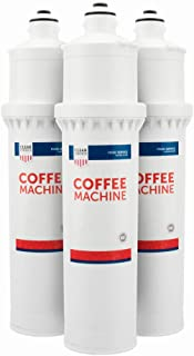 Clear Choice Coffee, Tea Filtration System Replacement Cartridge for Everpure 7CB5-S EV9272-00 EV9606-01 EV9618-21 EV9618-26 Also Compatible with EcoLab 9320-2411, Pentair 7CB5-S EV9618-21, 3-Pack