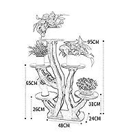 家庭用品植物スタンド屋内フラワースタンド床立ち植物棚木製フラワーポットラック家庭用ラックリビングルームバルコニー完璧な装飾(色:#18)