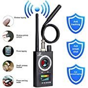 Anti Spy Detector, RF Detector & Camera Finder, Bug Detector, Upgraded RF Signal Detector, KORKUAN GSM Tracking Device for Wireless Audio Bug Hidden Camera Detector