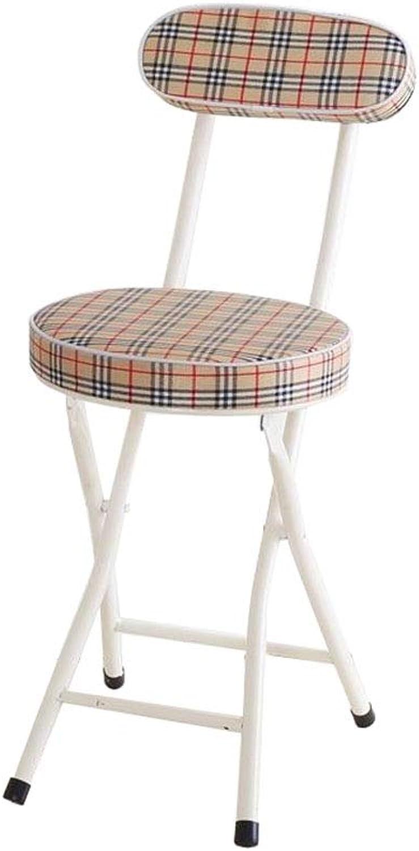 Folding Dining Chair Home Bar Counter Backrest Lounge Kitchen Café Restaurant