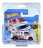 Hot Wheels Custom '77 Dodge Van (blanco – Jack of Hearts) 4/10 HW Art Cars 2021 – 65/250 (tarjeta corta) GTC88 *** Viene en una funda protectora para coleccionistas de coches KLAS ***