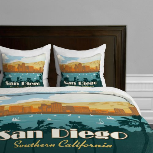 Deny Designs Anderson Design Group San Diego Bettbezug, Queensize-Bett