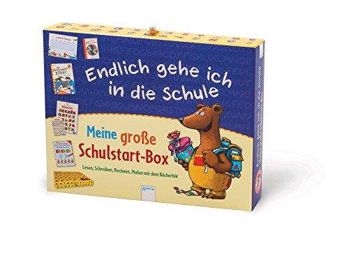 Arena Verlag Kaup, Ulrike/Schäfer, Carola: Meine große Schulstart-Box Endlich gehe ich in d: Lesen, Schreiben, Rechnen, Malen mit dem Bücherbär