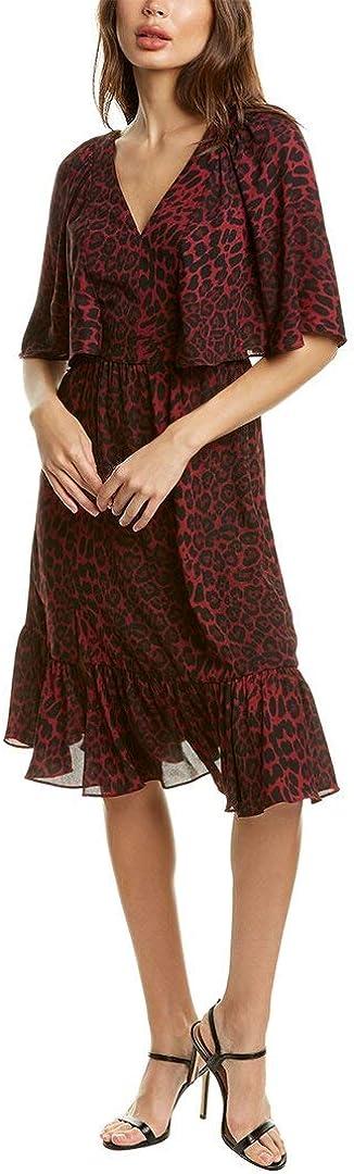 Dress the Population Women's Francesca Flutter Sleeve A-line Midi Dress