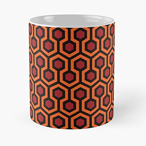 The Retro Nicholson Jack Stanley Hotel Shining Kubrick Pattern Overlook Carpet Best 11 Ounce Ceramic Coffee Mug .!