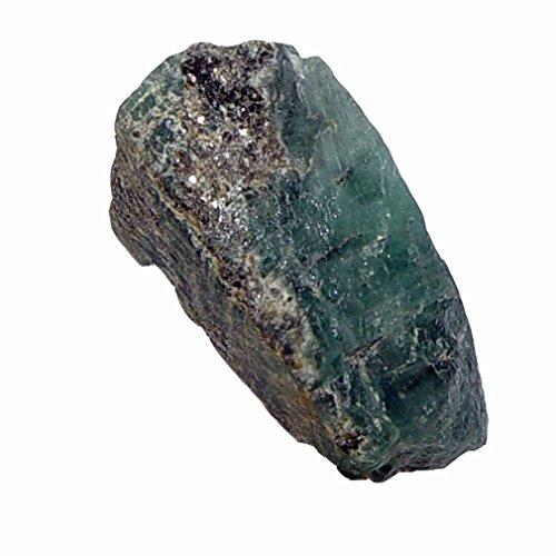 Smaragd Roh Natur Stück in Matrix (Muttergestein) Größe S: ca. 15 - 20 mm.(4565)