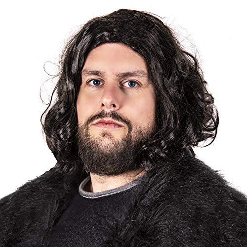Narwhal Novelties Costume Wig for Men, Black, Halloween, TV Wig