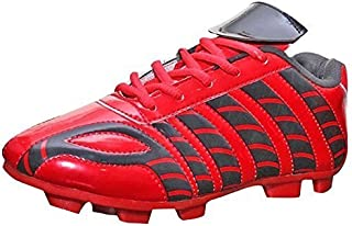 Port Unisex Red Frenzy PU Soccer Shoes