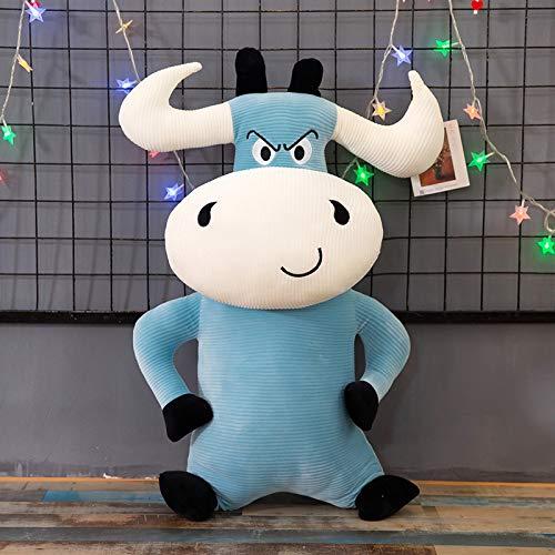 Decanyue 35/50/60/70 cm Juguete de Felpa muñeca de Vaca matón Almohada elevada muñeca para niños Juguete para niñas 35 cm Azul