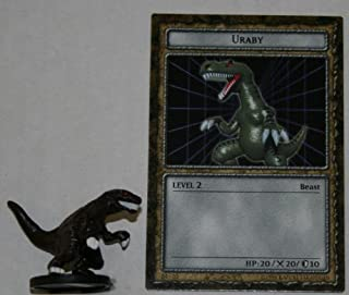 Dungeon Dice B4-09 Uraby Yugioh Level 2 DungeonDice Series 4 Iron Guardians English Single Figure and Card