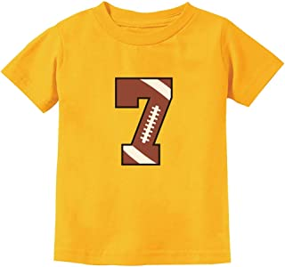 Gift for 7 Year Old Boy 7th Birthday Football Youth Kids T-Shirt