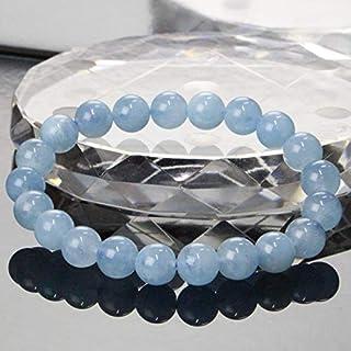 【一点物 8mm玉】 アクアマリン ブレスレット Bracelet ブレスレット Bangle 腕輪 ブレス Aquamarine ミルキーアクア メンズ レディース パワーストーン 天然石 パワーストーン a19529