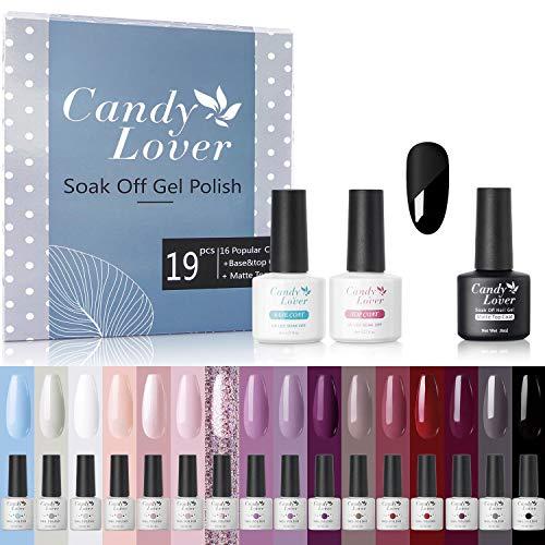 Candy Lover kit de vernis à ongles gel 16 couleurs