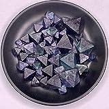 ABCABC 100G Color Natural Fluorita Octaedro Cristal Original Piedra Cristal Gema Mineral Home Desktop Decoración de Acuario (Color : 100G)