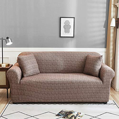 WXQY Patrón de Lino de imitación Funda de sofá elástica Funda de sofá elástica Funda de sofá de Sala de Estar Funda de protección de Muebles para sillón A12 4 plazas