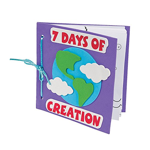 Fun Express Color Your Own Book About The 7 Days of Creation Craft Kit (Makes 12)