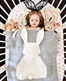 GoMaihe Mantas de Lana Bebe, 108cmx73cm Bonita Conejo Aire Acondicionado Mantas de Bebes Recien...