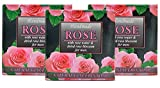 Barras de jabón naturales hechas a mano para hombres con agua de rosas, aceite de coco, glicerina, Barras de jabón para el cuidado de la barba 3x60g