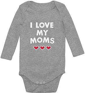 Tstars I Love My Moms - Gay Pride Mother's Day Gift Infant Baby Long Sleeve Bodysuit