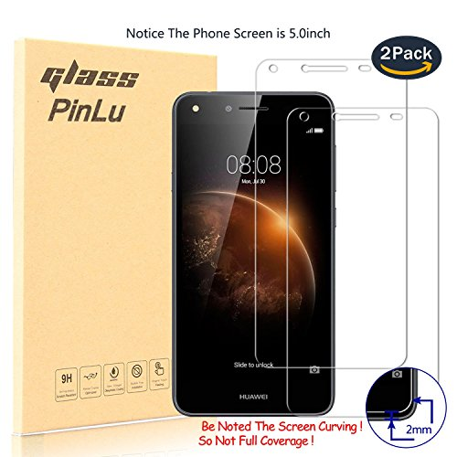 pinlu [2 Pack] Protector de Pantalla de Cristal para Huawei Y6 II...
