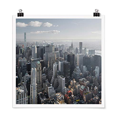 Poster - The Empire State Building Upper Manhattan NY Carré Mat 30 x 30cm