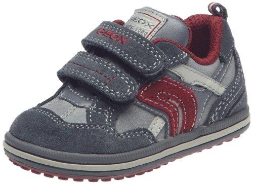 Geox - Zapatillas de Deporte de Sintético Bebé-Niños, Multicolor (Gris y Rojo), 28 EU