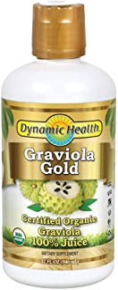 Dynamic Health Graviola Gold | Organic Graviola 100% Juice | Vegetarian, No Gluten or BPA, Dietary Supplement | 32oz