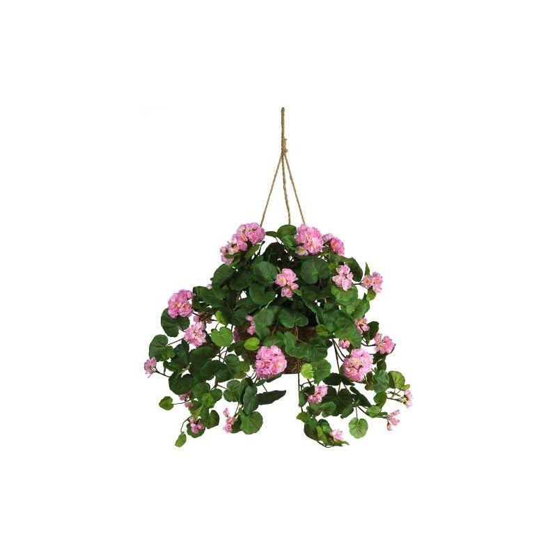 silk flower arrangements nearly natural geranium silk hanging basket