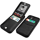 KIHUWEY iPhone 12 iPhone 12 Pro Case Wallet with Credit Card Holder, Premium Leather Magne...