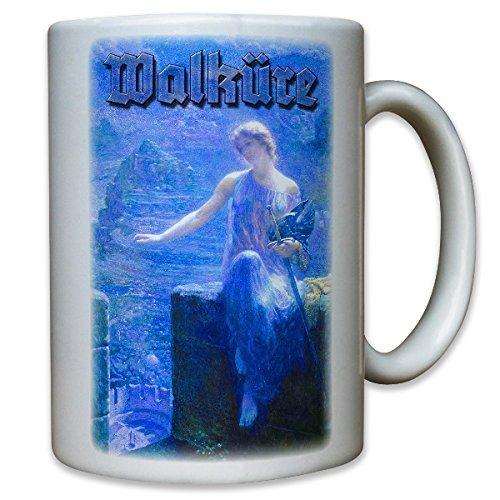 Die Nachtwache der Walküre Gemälde Maler Jungfer Geisterwesen Geist nordische Mythologie - Kaffee Becher Tasse #12026