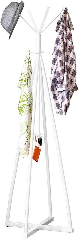 Rustproof Coat Rack Reinforced Hanger Wrought Iron Hanger (color   White)