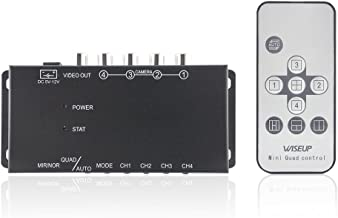 Wiseup™ 4Ch Mini Mobile Video Quad Video Processor for Vehicle Cameras with Image Mirror Function