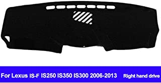 AUCD Car Dashboard Cover for Lexus is-F IS250 IS350 IS300 2006-2009 2010 2011 2012 2013 Right Hand Drive Dash Mat Dashboard Cover Sun Shade Carpet