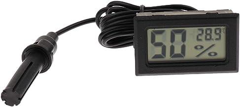 LOVIVER Nuevo Termómetro Digital LCD Higrómetro Medidor de Humedad Habitación para Interiores, Habitación Interior Termómetro Higrómetro Herramienta - Blanco