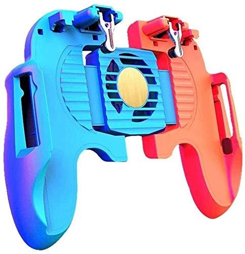 YUYANDE Controlador de Juegos móviles, con Ventilador de refrigeración, Disparador de Juegos móviles para PUBG/FORTNITE/Reglas DE Supervivencia GAMINJO AGRÍO Y JOJORES DE Juegos para 4,5-6.5inch A