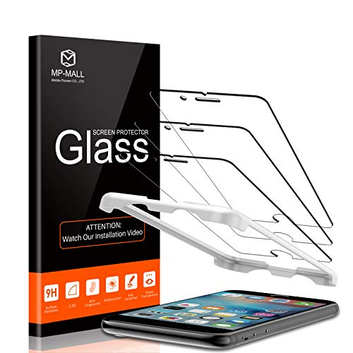 MP-MALL 3-Pack Screen Protector Compatible for iPhone 6 plus and 6s plus, Tempered Glass Alignment Frame Easy Installation, not Fits for iPhone 6, iPhone 6s