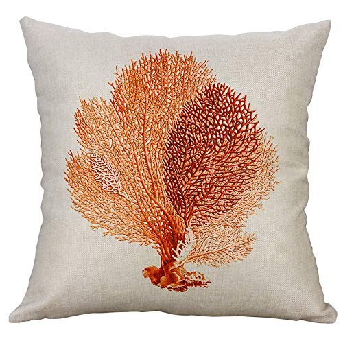 milkcha Home & Garden,Marine Life Coral Sea Turtle Seahorse Whale Octopus Cushion Cover Pillow Cover,Pillow Case