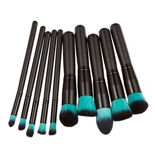 LEORX Pinceaux de maquillage professionnels Cosmétique Brosse à paupières - 10 pièces