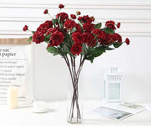 FILWHT Flor artificial simulación de flores falsas, casa, oficina, jardín, patio, patio o decoración al aire libre, Rojo, 2 unidades