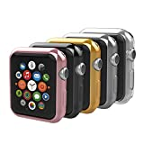 Anjoo [5 Pack Coque Compatible pour Apple Watch 38mm, Watch Montre Slim TPU...