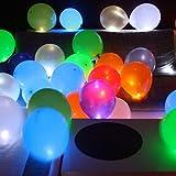 Trendario 15 LED leuchtende Luftballons - schöne Ballons für die Party, Geburtstag, Hochzeit, Festival inklusive Batterien -
