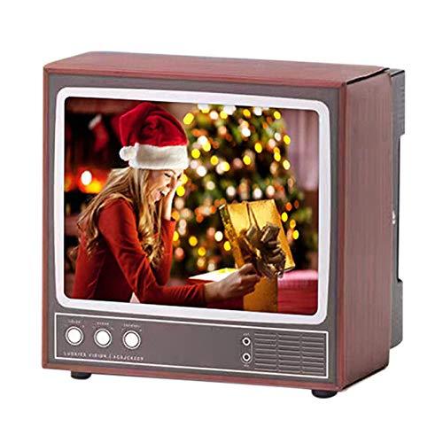 feeilty Retro-TV-Form Handyhalter-Retro-TV-Telefonhalter Telefonständer Telefon Bildschirm Lupe Telefonhalter