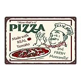 haochenli188 Pizza Metallplatte Bar Wanddekoration