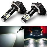 Antline Extremely Bright 50W High Power 881 889 886 894 896 LED Fog Light Bulbs Xenon White for DRL or Fog Lights (Packs of 2)