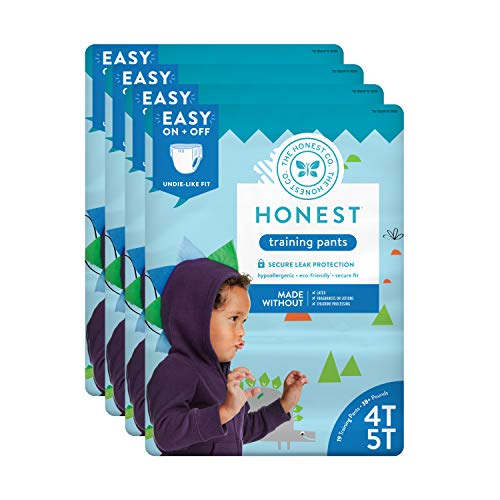 The Honest Company Toddler Training Pants, Dinosaurs, 4T/5T, 76 Count