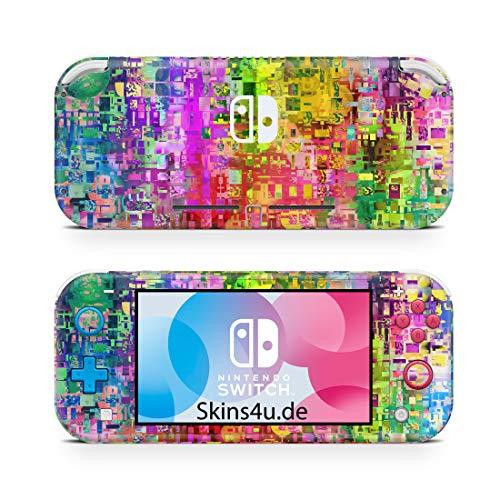 Skins4u Premium Slim Skin Design Aufkleber Schutzfolie Skins für Nintendo Switch Lite Vorder & Rückseite Abstract