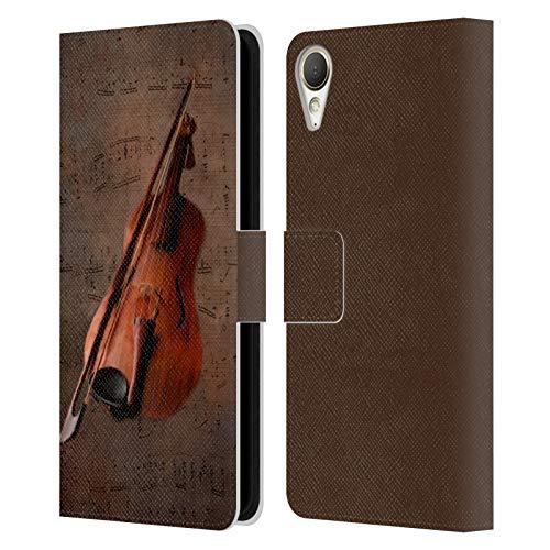 Head Case Designs Offizielle Simone Gatterwe Geige Vintage Und Steampunk Leder Brieftaschen Handyhülle Hülle Huelle kompatibel mit HTC Desire 10 Lifestyle