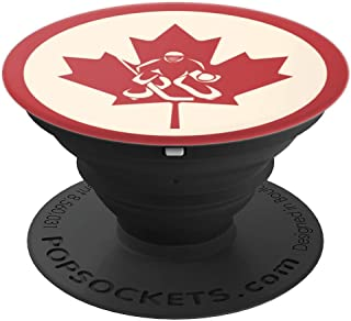 Ice Hockey Goalie Canada Flag Maple Leaf - PopSockets Grip and Stand for Phones and Tablets