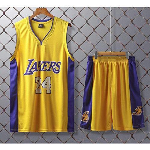 YUANP Uniformes De Basket-Ball Lakers # 24 Kobe Bryant Retro Basketball Maillots D'été Fan Shirt Gilet sans Manches Sportswear Respirant Sports,A-XL